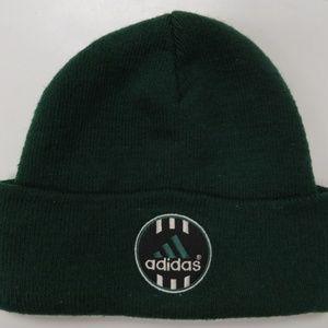 Adidas Logo Beanie Cuffed Cap Men Knit Hat Green